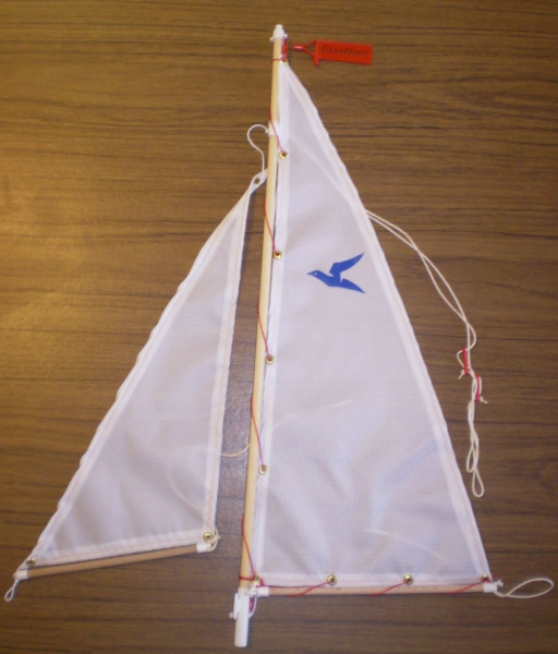 5074 Sail and mast for Sturmvogel, Katamaran