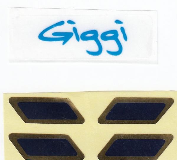 5087 labels for sailing boat Giggi