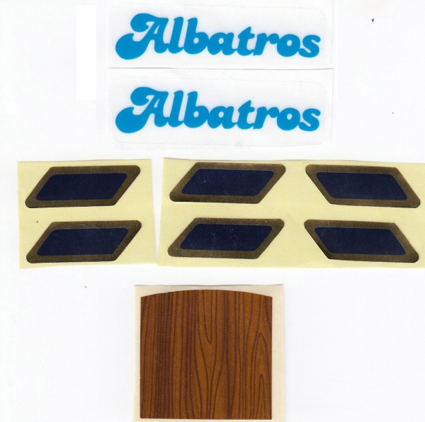 5091 labels for sailing boat Albatros