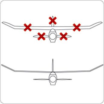 Segelflieger ausrichten