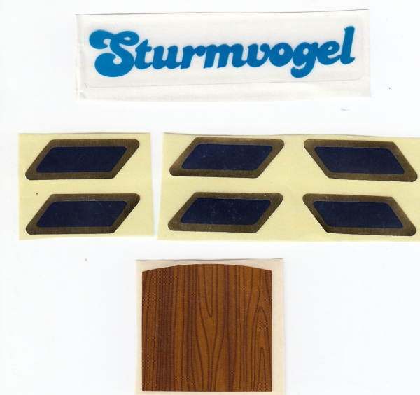 5090 labels for sailing boat Sturmvogel