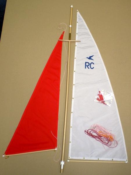 5076 Segel und Mast komplett, für RC Neptun, 1818 Passat